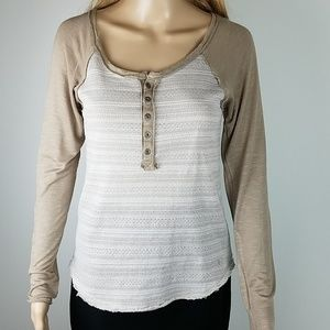 Miss Me Tan & Cream Top